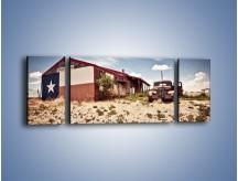 Obraz na płótnie – Autem przez texas – trzyczęściowy KN874W5