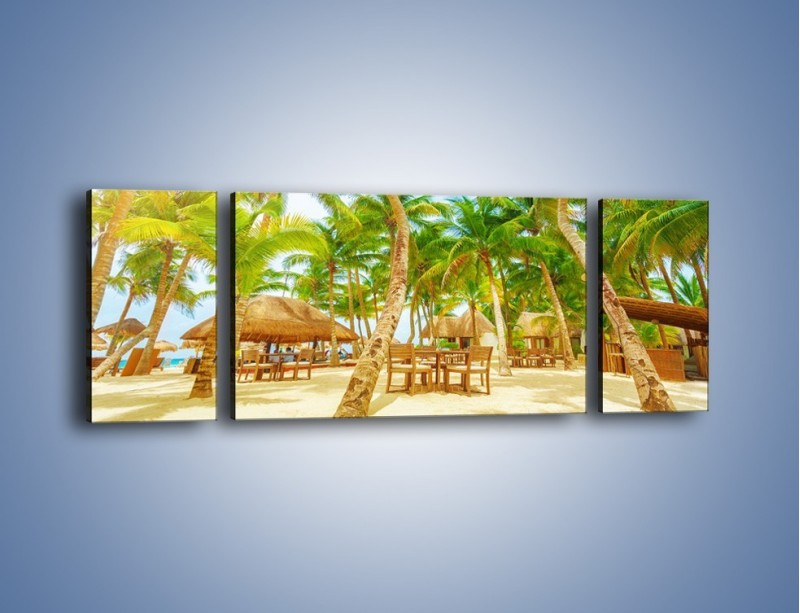 Obraz na płótnie – Słoneczna sjesta pod palmami – trzyczęściowy KN886W5