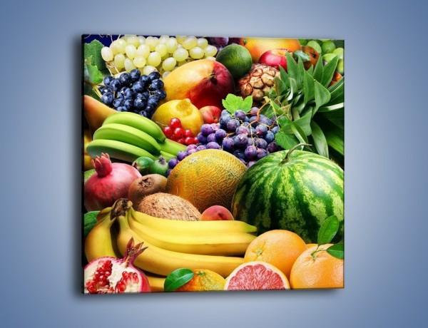 Obraz na płótnie – Stół pełen dojrzałych owoców – jednoczęściowy kwadratowy JN072
