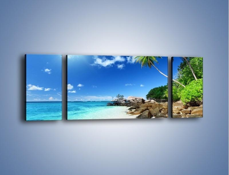 Obraz na płótnie – Rajska plaża i jej piękno – trzyczęściowy KN963W5