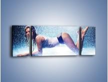 Obraz na płótnie – Ciało zmoczone deszczem – trzyczęściowy L045W5