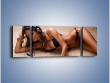 Obraz na płótnie – Kobiece ciało w ujęciu aparatu – trzyczęściowy L138W5