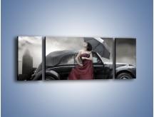 Obraz na płótnie – Dama pod parasolem – trzyczęściowy L139W5