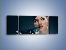 Obraz na płótnie – Czarna dama w diamentach – trzyczęściowy L171W5