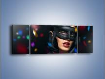 Obraz na płótnie – Bal w czarnych maskach – trzyczęściowy L177W5