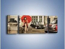 Obraz na płótnie – Damski świat z dodatkiem czerwonego – trzyczęściowy L242W5