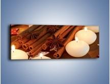 Obraz na płótnie – Cynamonowe szaleństwa przy świecach – jednoczęściowy panoramiczny JN371