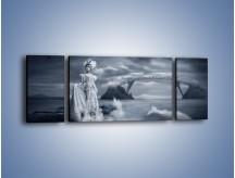 Obraz na płótnie – Dama w sepii – trzyczęściowy L292W5