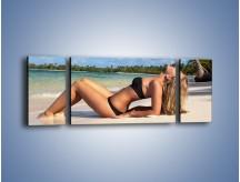 Obraz na płótnie – Czas rajskich plaży – trzyczęściowy L316W5