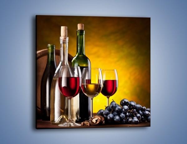 Obraz na płótnie – Wino z orzechami – jednoczęściowy kwadratowy JN077