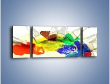 Obraz na płótnie – Kolory pędzlem malowane – trzyczęściowy O046W5
