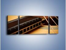 Obraz na płótnie – Instrumenty z drewna – trzyczęściowy O108W5