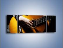 Obraz na płótnie – Chłopiec z gitarą – trzyczęściowy O109W5