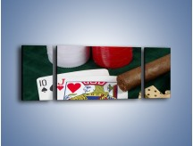 Obraz na płótnie – Męski świat hazardu – trzyczęściowy O121W5