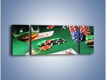 Obraz na płótnie – Mocne wrażenia w kasynie – trzyczęściowy O122W5