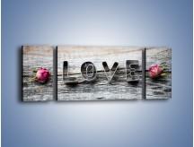 Obraz na płótnie – Miłość pachnąca różami – trzyczęściowy O146W5