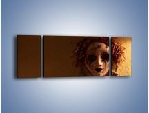 Obraz na płótnie – Maska ze znaczącymi szczegółami – trzyczęściowy O161W5
