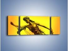 Obraz na płótnie – Figurka ważna w świecie prawa – trzyczęściowy O164W5