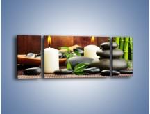 Obraz na płótnie – Masaż przy świecach – trzyczęściowy O176W5