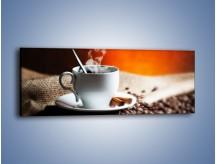 Obraz na płótnie – Aromatyczny zapach kawy – jednoczęściowy panoramiczny JN374