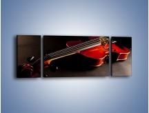 Obraz na płótnie – Mocne brzmienia na gitarze – trzyczęściowy O205W5