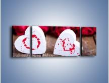 Obraz na płótnie – Dwa idealnie pasujące serca – trzyczęściowy O211W5