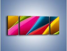 Obraz na płótnie – Idealna kolorowa kompozycja – trzyczęściowy O219W5