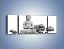 Obraz na płótnie – Budda wśród kamieni – trzyczęściowy O229W5