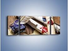 Obraz na płótnie – Listy zapieczętowane atramentem – trzyczęściowy O234W5