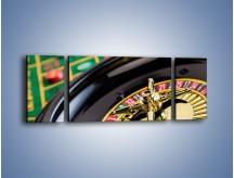 Obraz na płótnie – Czas drogocenny w kasynie – trzyczęściowy O238W5