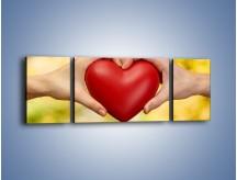 Obraz na płótnie – Miłość dwojga ludzi – trzyczęściowy O240W5