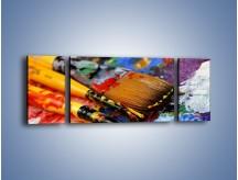 Obraz na płótnie – Kolory ze sobą zmieszane – trzyczęściowy O251W5