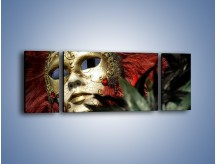 Obraz na płótnie – Maska pełna tajemnicy – trzyczęściowy O252W5
