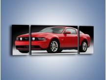 Obraz na płótnie – Czerwony Ford Mustang GT – trzyczęściowy TM052W5