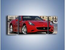 Obraz na płótnie – Czerwone Ferrari California – trzyczęściowy TM057W5