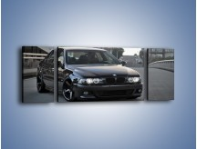 Obraz na płótnie – Czarne BMW E39 M5 – trzyczęściowy TM072W5
