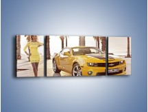 Obraz na płótnie – Chevrolet Camaro Coupe Europe – trzyczęściowy TM083W5