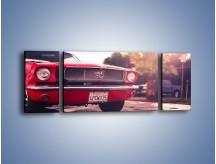 Obraz na płótnie – Czerwony Ford Mustang – trzyczęściowy TM087W5