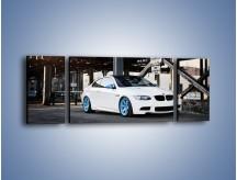 Obraz na płótnie – BMW E92 M3 Coupe pod starym mostem – trzyczęściowy TM088W5