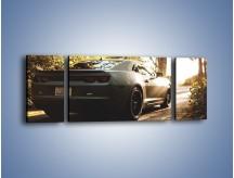 Obraz na płótnie – Chevrolet Camaro w matowym kolorze – trzyczęściowy TM132W5