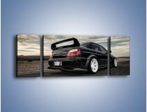 Obraz na płótnie – Czarne Subaru Impreza WRX Sti – trzyczęściowy TM133W5