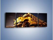 Obraz na płótnie – Amerykański School Bus – trzyczęściowy TM146W5