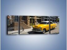 Obraz na płótnie – Amerykańska taksówka z lat 59 – trzyczęściowy TM164W5