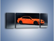 Obraz na płótnie – BMW M3 E92 Coupe Orange – trzyczęściowy TM168W5