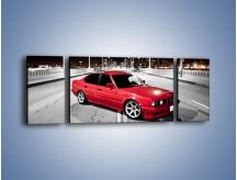 Obraz na płótnie – BMW 5 E34 na moście – trzyczęściowy TM227W5