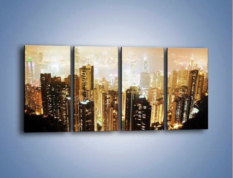 Obraz na płótnie – Miasto widziane z góry – czteroczęściowy AM007W1