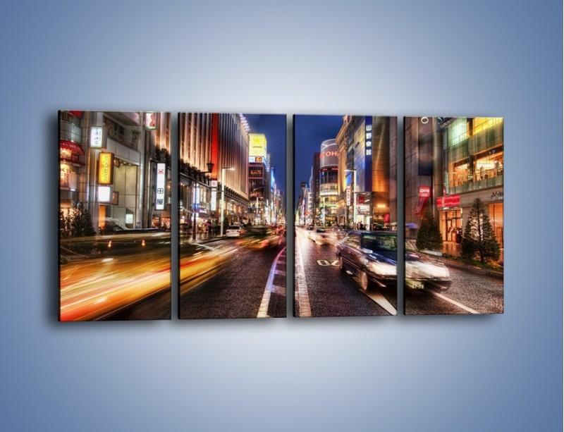 Obraz na płótnie – Tokyo w ruchu – czteroczęściowy AM015W1
