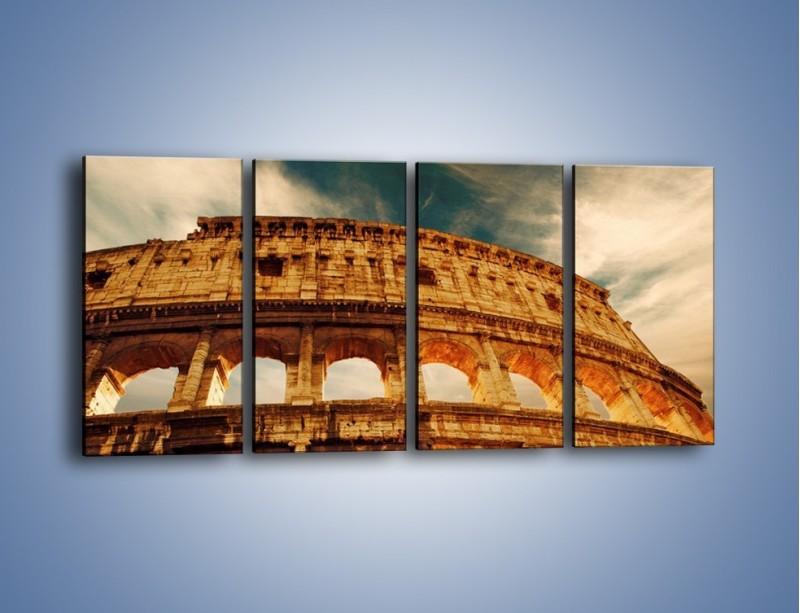 Obraz na płótnie – Koloseum w świetle słońca – czteroczęściowy AM044W1