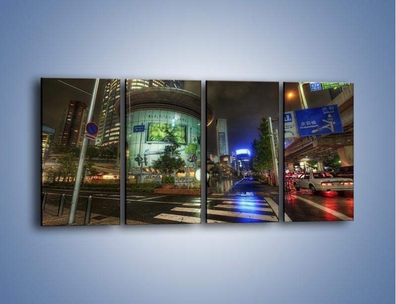 Obraz na płótnie – Spokojne Tokyo nocą – czteroczęściowy AM056W1