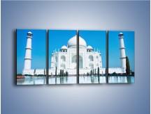 Obraz na płótnie – Taj Mahal pod błękitnym niebem – czteroczęściowy AM077W1